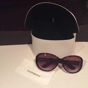 Yves Saint Laurent Accessories - Yves Saint Laurent Sunglasses - Oval Tortoise YSL